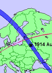 Затмение 21 августа 1914 года на Россией