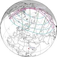 Солнечные и лунные затмения 2018 года (продолжение)