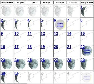 какая на данный момент луна возрастающая либо убывающая январь 2016