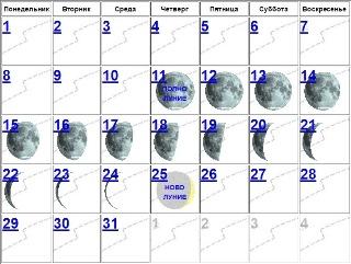 Луна убывает с 11 по 25 мая 2017 года